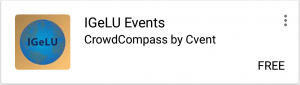 IGeLU Events App for Mobile Devices
