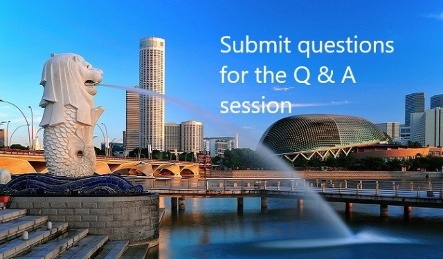 You are invited to submit questions for the product specific and general Q&A sessions
