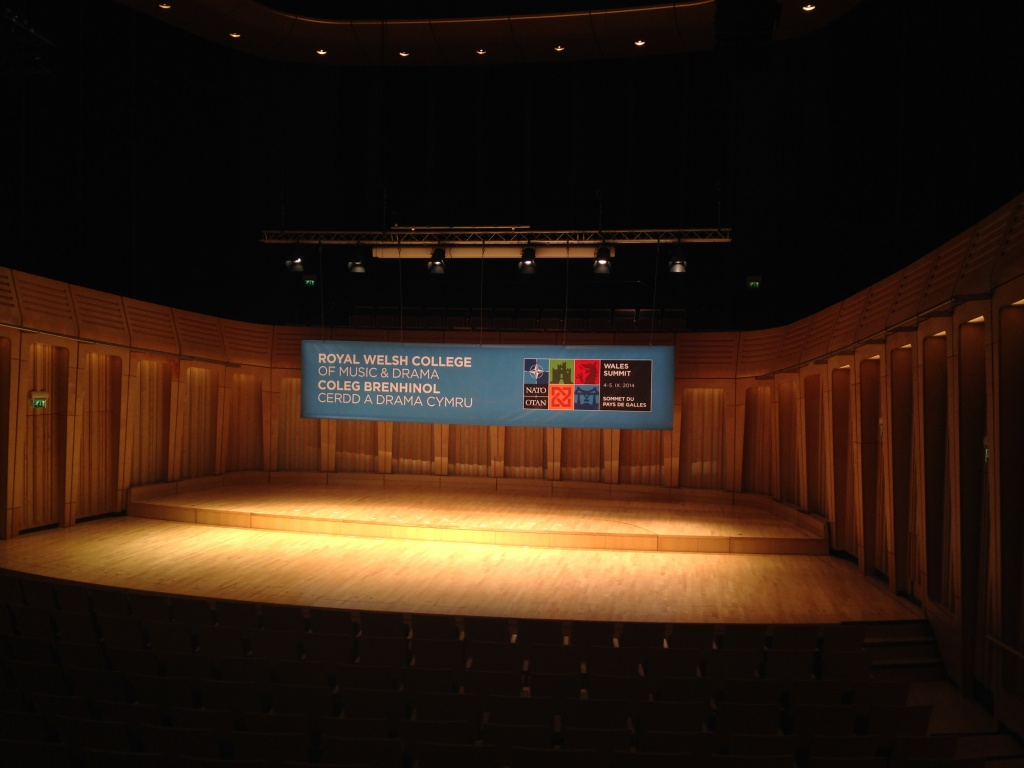 Main presentation theater in the Royal Welsh College of Music and Drama