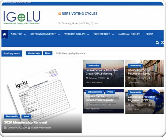 Results of IGeLU site redesign feedback